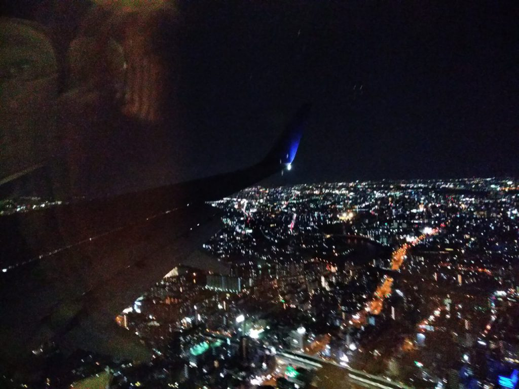 飛行機からの夜景